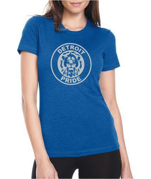 Detroit Football Pride - Women's - T-Shirt - Royal Blue