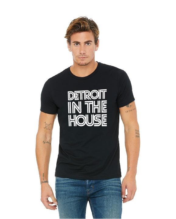 Detroit In The House Unisex T-Shirt - Black