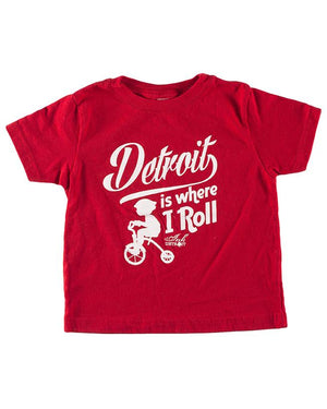 Detroit Is Where I Roll - Toddler T-Shirt - Red
