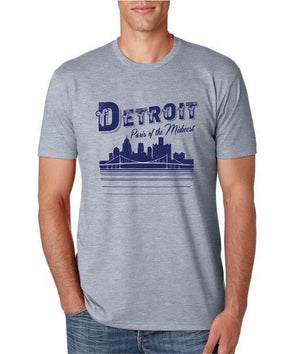 Detroit Paris of The Midwest  - T-Shirt - Heather Grey