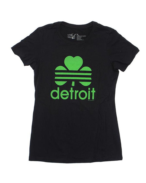 Detroit Retro Cloverleaf  - Women's T-Shirt - Black