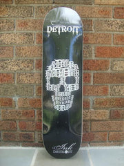 Detroit Skull Skateboard - Shortboard - The Great Lakes State