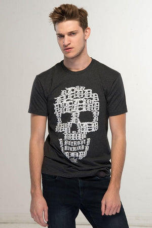 Detroit Skull - T-Shirt - Black with White