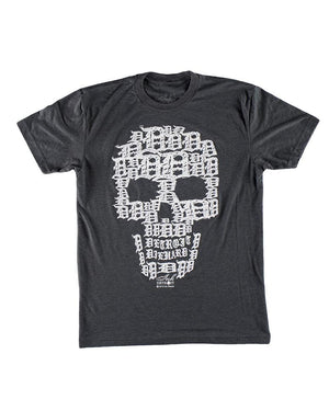 Detroit Skull Unisex T-Shirt - Charcoal Grey