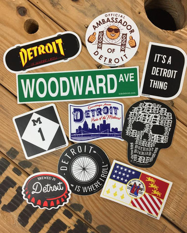 Detroit Sticker Bundle of 10 - The Great Lakes State