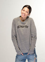 Detroitish Crewneck Sweatshirt - Heather Grey - The Great Lakes State