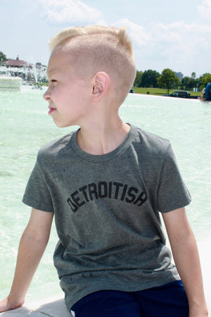 Detroitish - Kids T-Shirt - Heather Grey