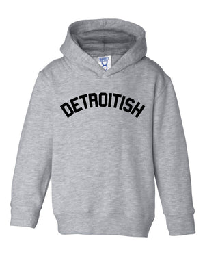 Detroitish Toddler Hoodie - Heather Grey