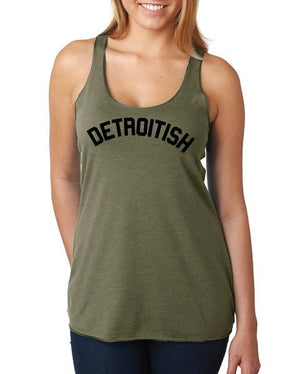 Detroitish Women's Racerback Tank Top