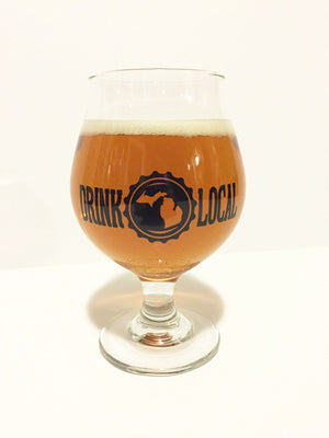 Drink Local Michigan Tulip Glass. - The Great Lakes State