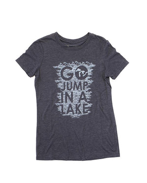 Go Jump In A Lake - Women's T-Shirt - Blue