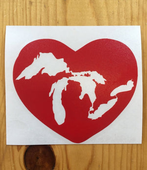 'Great Lakes Heart' Vinyl Decal sticker - The Great Lakes State