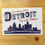 Greetings From Detroit Paris Of The Midwest Postcard - The Great Lakes State