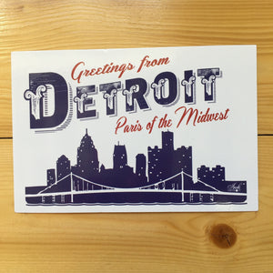 Greetings From Detroit Paris Of The Midwest Postcard