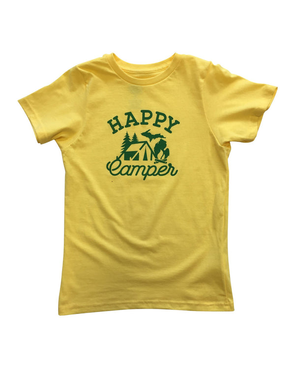 Happy Camper Youth T-Shirt - Yellow