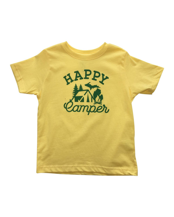 Happy Camper Toddler T-Shirt - Yellow