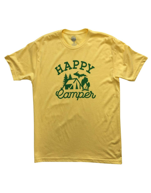 Happy Camper Unisex T-Shirt - Banana Cream