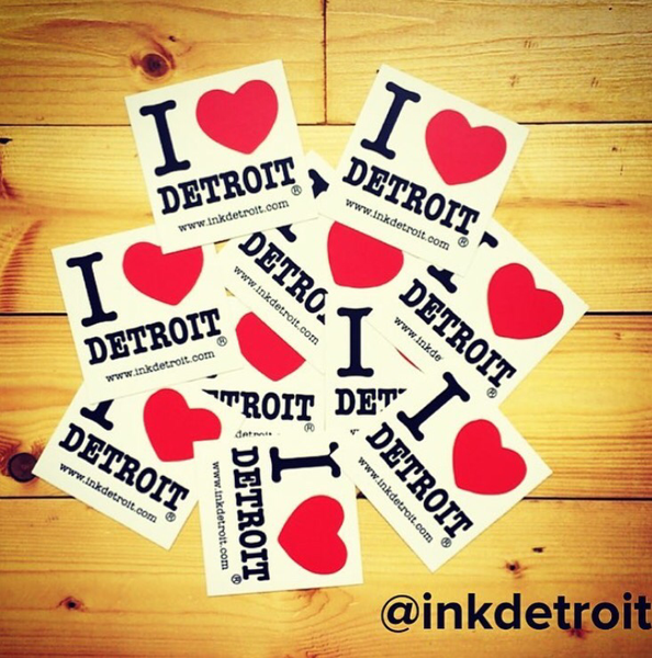 I Love Detroit Bumper Sticker - The Great Lakes State