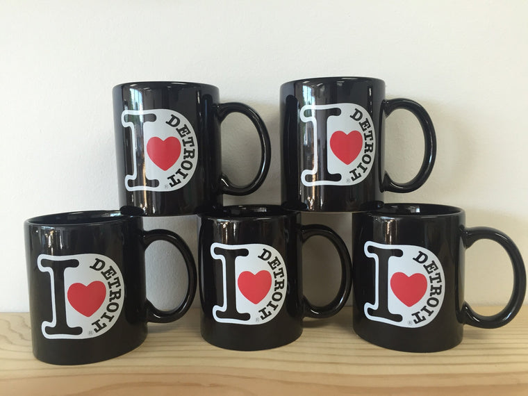 I Love Detroit - Coffee Mug - Black