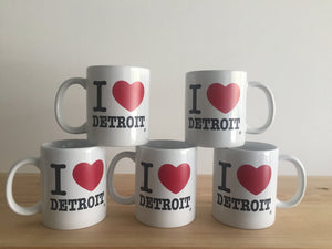 I Love Detroit Coffee Mug - White