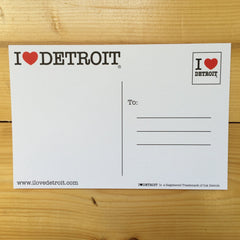 I Love Detroit Postcard - The Great Lakes State