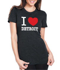 I Love Detroit - Women's T-Shirt - Black - The Great Lakes State