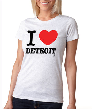I Love Detroit Women's T-Shirt - White