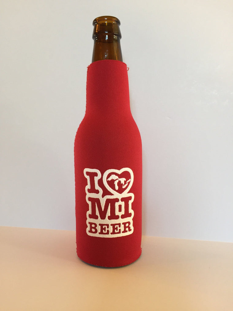 I Love MI - Beer Bottle Coolie