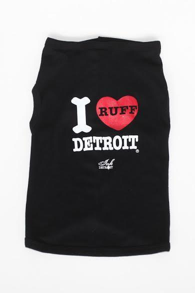 I Ruff Detroit - Baby Rib Dog Tank - The Great Lakes State