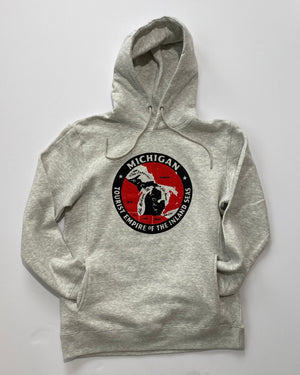 Michigan Tourist Empire of The Inland Seas Hoodie - Heather Oatmeal
