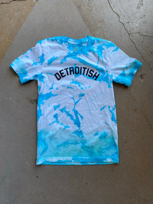 Detroitish Unisex T-Shirt - Tie Dye Blues