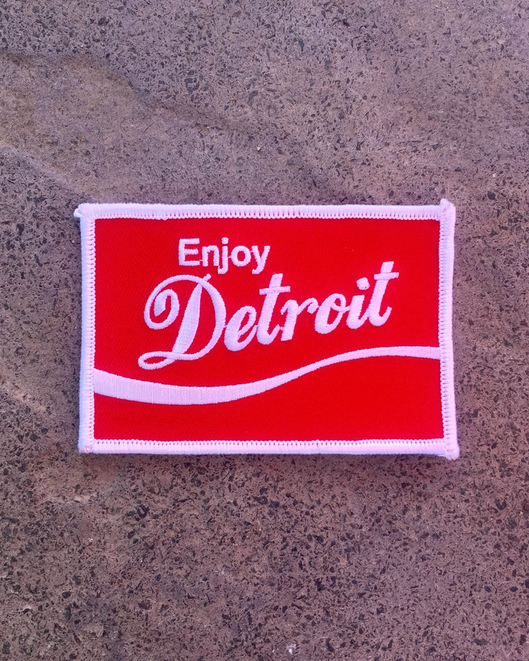 Enjoy Detroit Iron On Patch