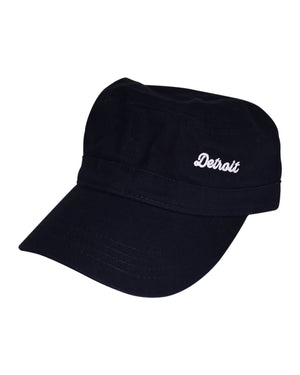 Detroit Military Fidel Cap - Black