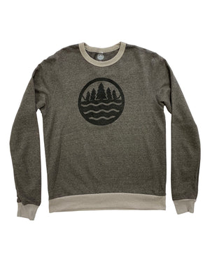 The Great Lakes State Logo - Unisex Eco-Mock Twist Ringer Sweatshirt