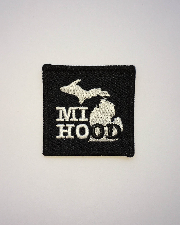 MI Hood iron on patch
