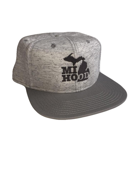 MI Hood Jersey Knit Snapback - The Great Lakes State