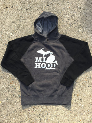 MI Hood Youth pullover hooded sweatshirt