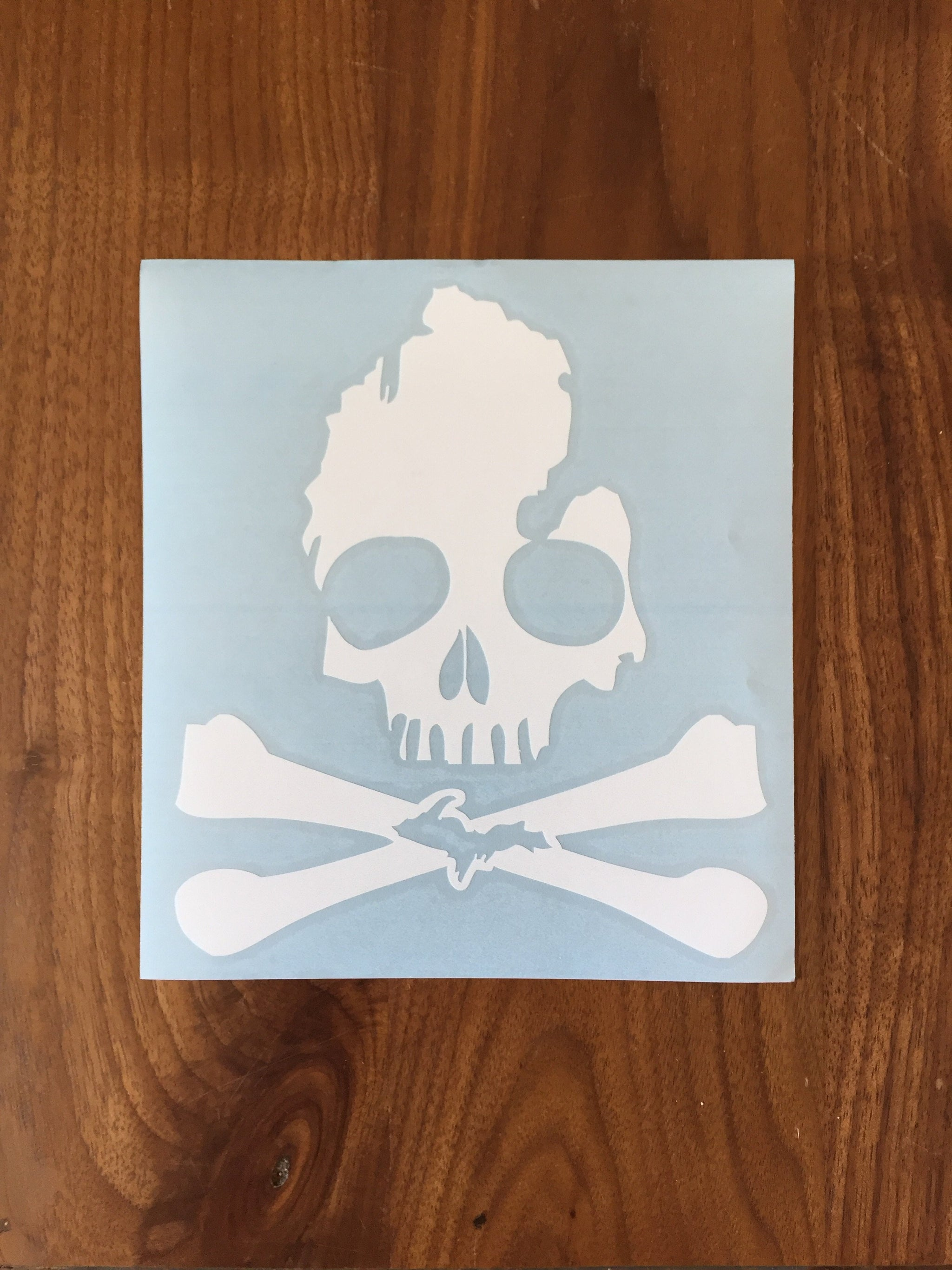 SKULL AND BONES Sticker Decal Large