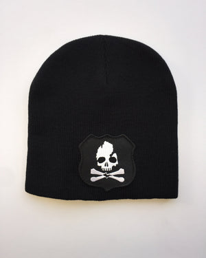 Michigan Skull & Bones Knit Beanie - Black - The Great Lakes State