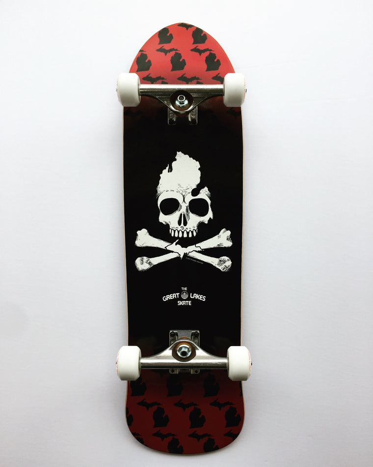 Michigan Skull & Bones Old School complete Skateboard