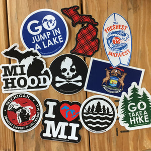 Michigan Sticker bundle of 10 - The Great Lakes State