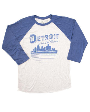 Paris of the Midwest Unisex and Ladies 3/4 Long Sleeve Baseball T-Shirt