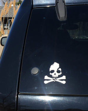 Michigan Skull & Bones Extra Large Vinyl Decal Sticker - The Great Lakes State