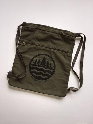 The Great Lakes State Canvas Cinch-Sack