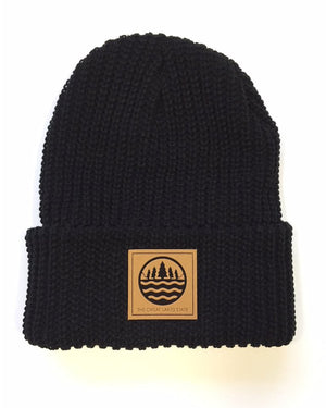 The Great Lakes State Logo Knit Beanie with Cuff