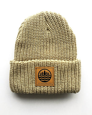 The Great Lakes State Logo Knit Beanie with Cuff - The Great Lakes State