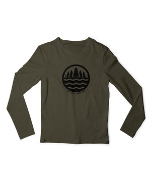The Great Lakes State Logo Long Sleeve T-Shirt - Green