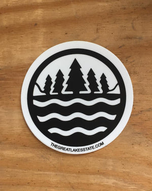 The Great Lakes State Logo Sticker