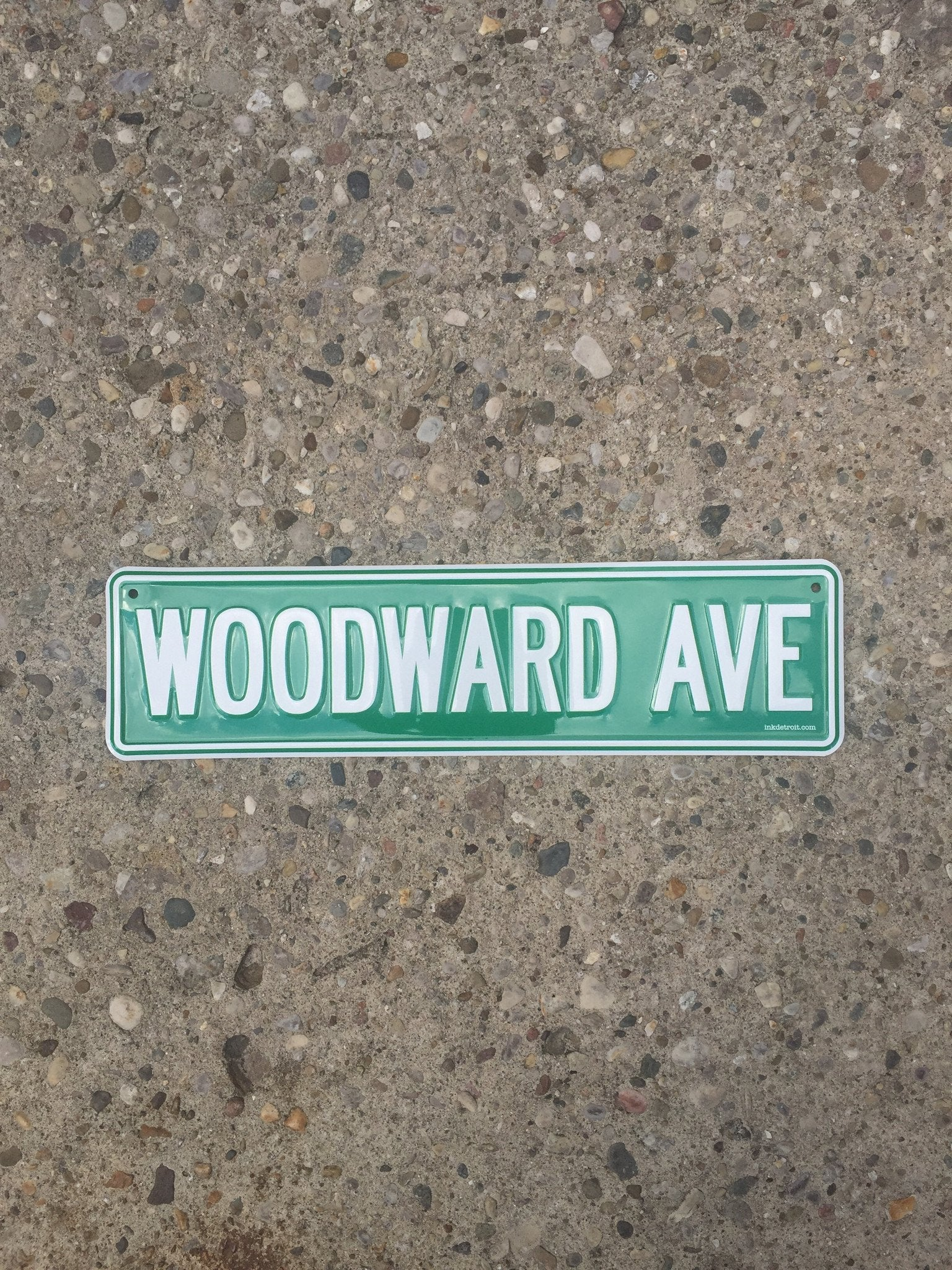 Woodward Ave street sign - The Great Lakes State