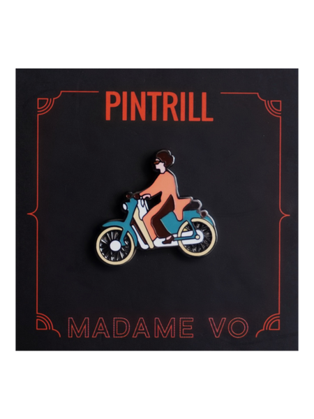 Madame Vo Scooter Pin